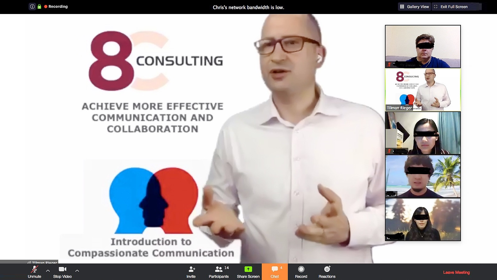 Online Workshop von Tilman Rieger, 8C Consulting